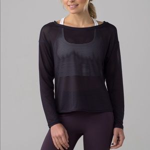 Lululemon Lean In Long Sleeve Senmi Sheer Top